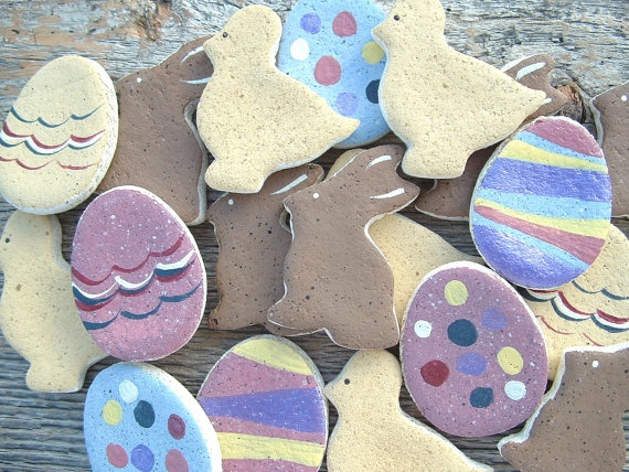 Mini Easter Ornaments Group of eighteen 18 by cookiedoughcreations, $9.50