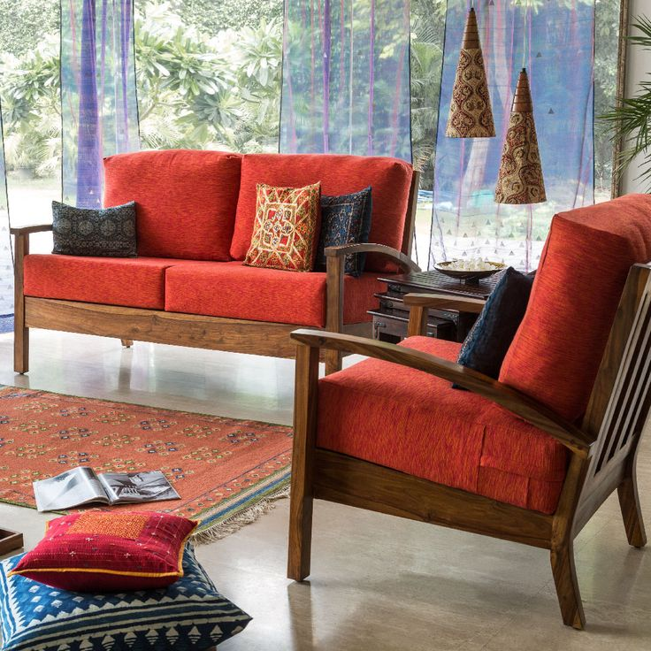 Cosy Living Furniture Sofa Red Upholstery Floor Covering