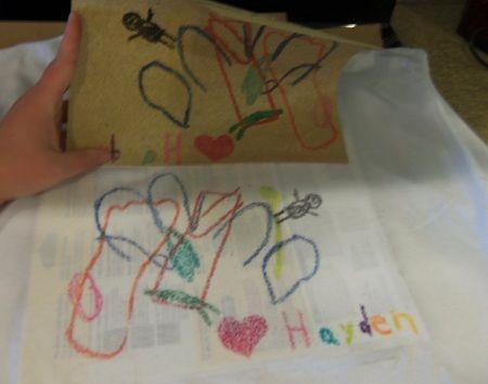 DIY Kids Craft: Sandpaper Printed T shirts!!! Photo