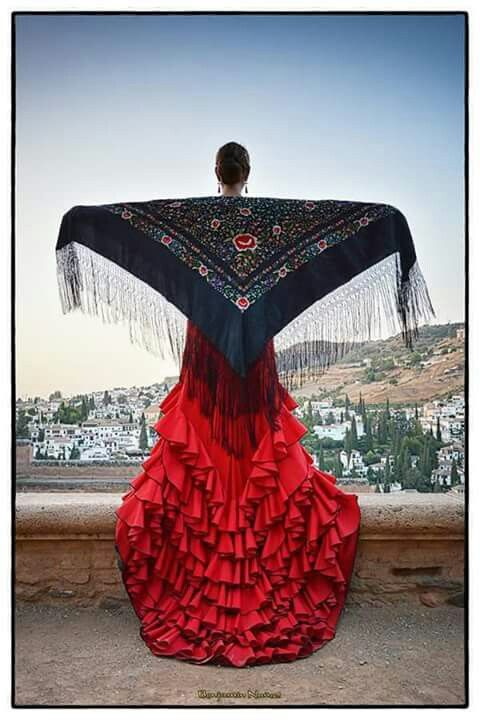 The dance of Flamenco, a dance native to Spain.