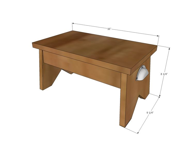 Ana White | Build a Simple 1x10 Single Step Stool | Free and Easy DIY Project and Furniture Plans