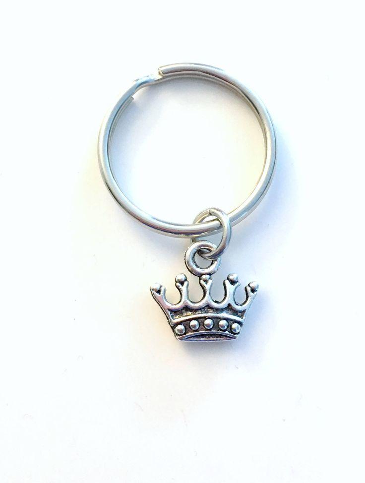 SALE Crown Keychain, Tiara Key Chain Princess Keyring Fairytale Reign gift, Victorian Ruler Princess birthday Present purse charm planner 53 by aJoyfulSurprise on Etsy