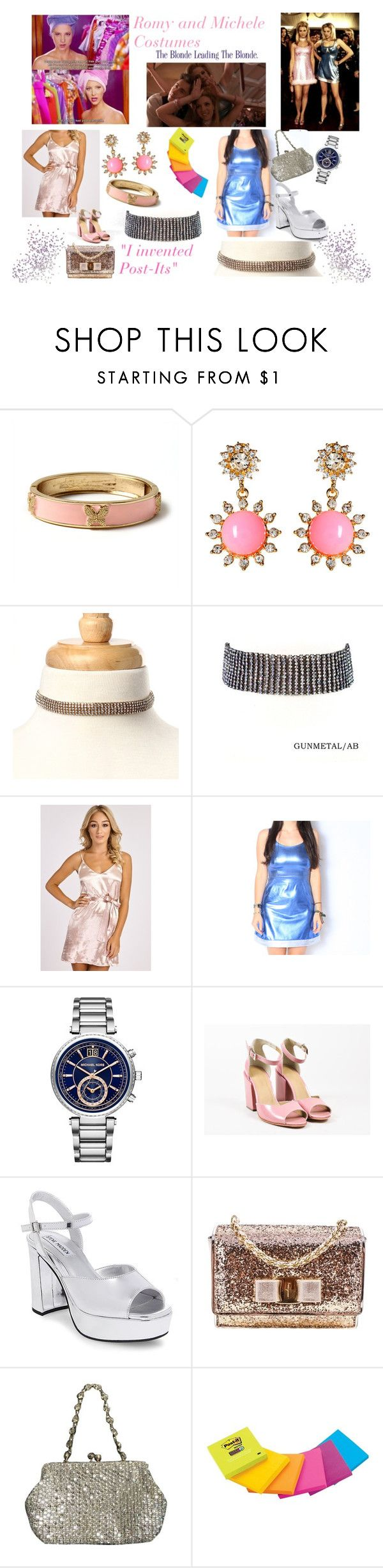 """Romy and Michele Costume"" by amritasinghjewelry on Polyvore featuring Amrita Singh, Michael Kors, Salvatore Ferragamo and Valentino"