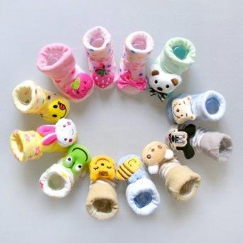 Pusat Distributor Sepatu Anak Branded - 3 Pasangan LOCOMO Bayi Bayi Balita Boy Gadis 3D Kartun Hewan Unisex Anti Slip Skid Socks Sandal Sepatu / 0-6 Bulan / Ukuran 7-9 cm / FBA015 | Pusat Sepatu Bayi Terbesar dan Terlengkap Se indonesia