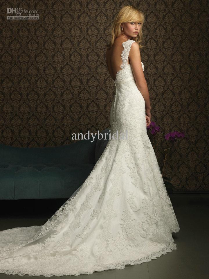 Softly Feminine Silver Beaded Sweetheart Mermaid Style Lace Wedding Dresses 2013 Long