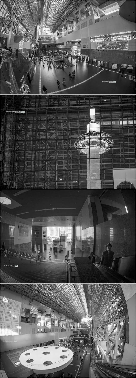 Kyoto Station - architecture and people, Japan