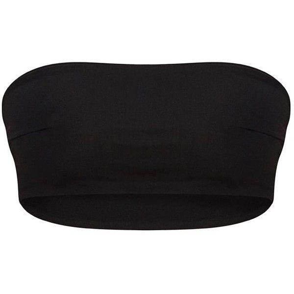 Black Mix Match Bandeau Bikini Top (€9,13) ❤ liked on Polyvore featuring swimwear, bikinis, bikini tops, bandeau swim tops, bandeau top bikini, mix match swimwear, bikini beachwear and swimsuit tops
