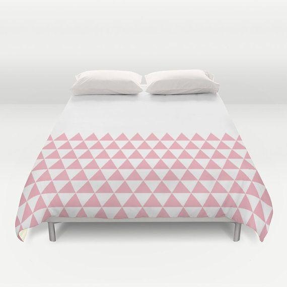36 colori, geometriche triangoli mezza stampa copripiumino, Candy rosa e bianco copripiumino, piumone matrimoniale, re copripiumino, regina copripiumino
