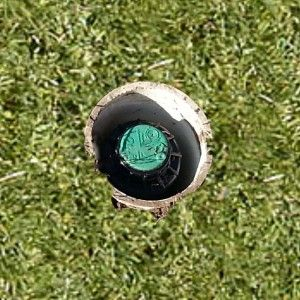 How to sleeve aerobic septic sprinkler heads to prevent running over them with a lawnmower. Could also do this to irrigation systems.