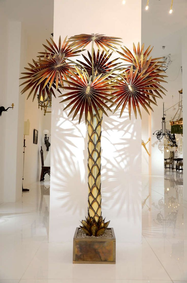 Maison Jansen Palm Tree Floor Lamp From A Unique