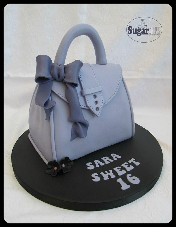 Handbag cake. Novelty cake.
