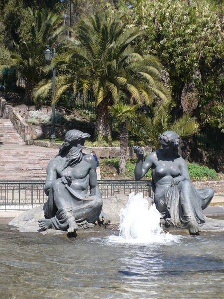Neptuno y Anfítrite - Santa Lucía - Santiago
