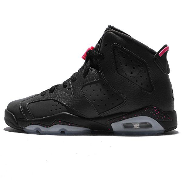 Jordan Kid's Air 6 Retro GG, ANTHRACITE/BLACK-BLACK-HYPER PINK,