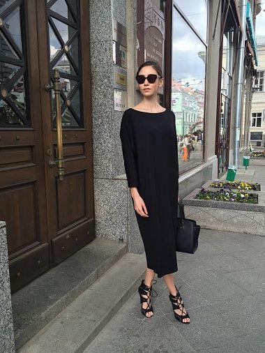 Платье балон черное