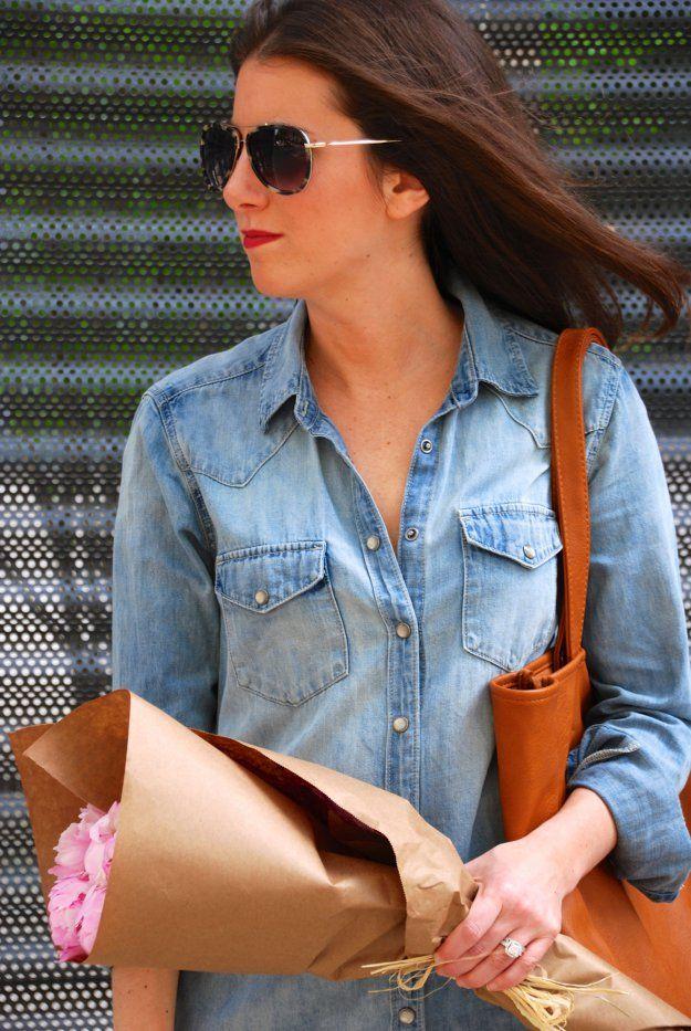 DENIM DRESS - GOLD COAST GIRL fashion, women's fashion, street style, blog, chicago, style, summer fashion, gap, denim dress, sandals