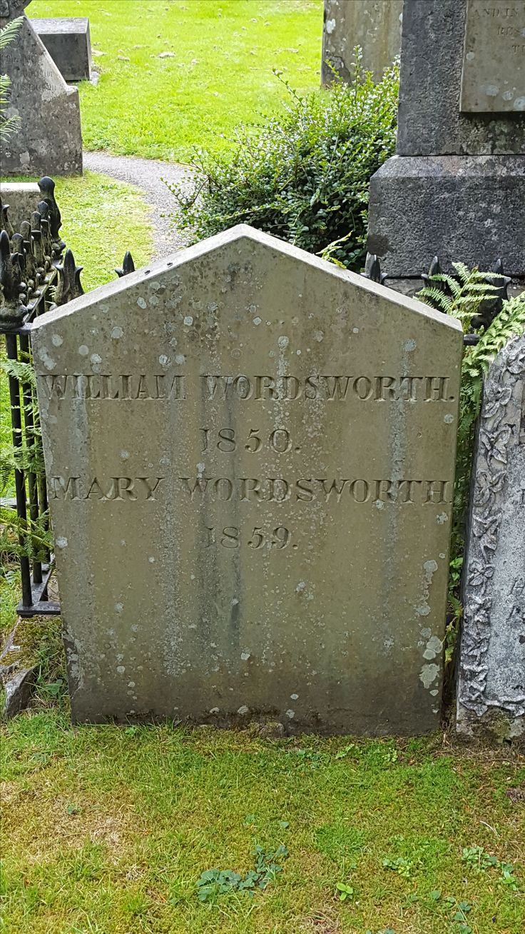 July 2016 - William and Mary Wordsworth's grave at the parish church