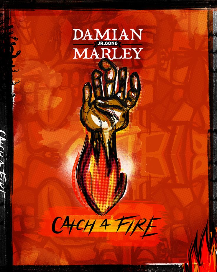 Damian Marley Catch a Fire Poster on Behance