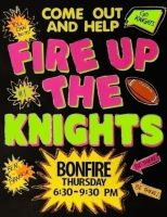 Fire up the Bearcats!! Bonfire poster idea. More for cheer, but going in the stucco board anyways.