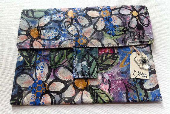 Pochette Margherite con tasca con zip porta card e di POPIdesign