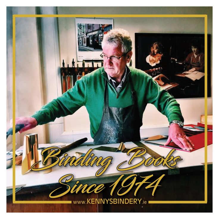 Kennys Bindery first opened its doors in 1974 in Salthill, Galway. Gerry Kenny had completed a bookbinding apprenticeship in Dublin and then set up on his own. The bookbindery produces an extensive range of products from thesis binding to hand crafted, fine-tooled leather bindings.   www.KennysBindery.ie