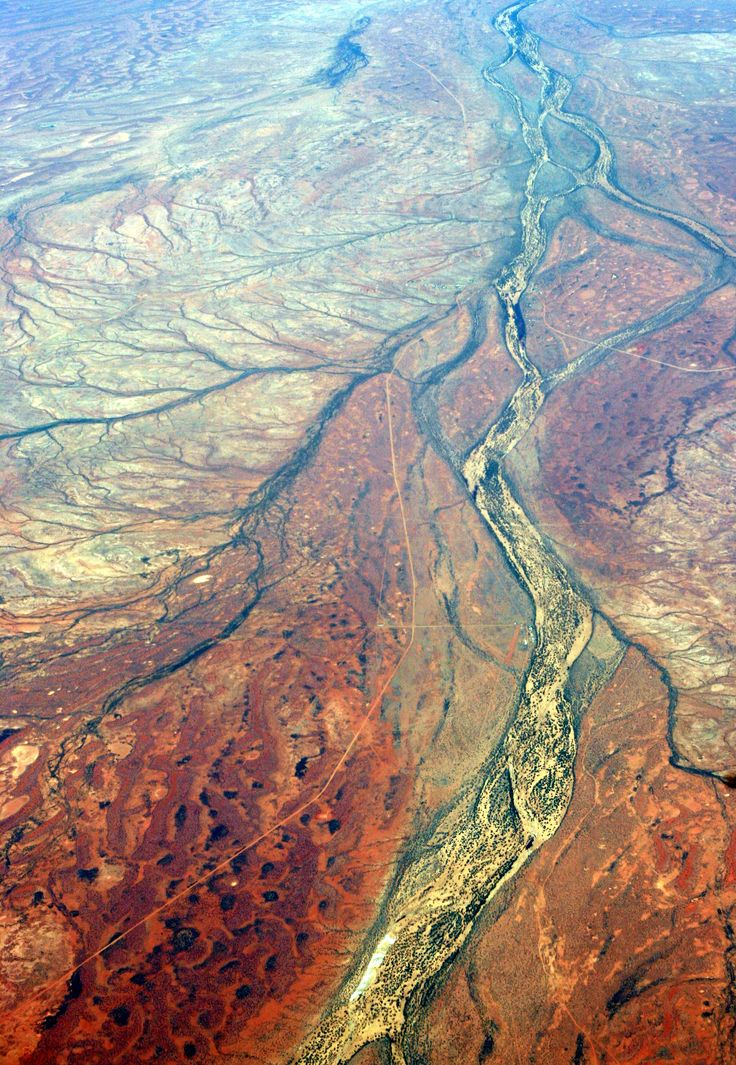 Australian River system from the air
