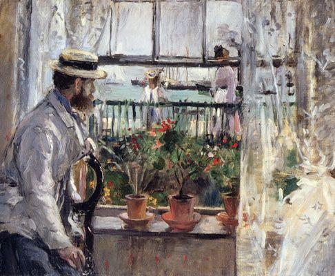 Berthe Morisot : Eugène Manet à l'île de Wight 1875 - huile sur toile 38 x 46 cm - Musée Marmottan - Paris