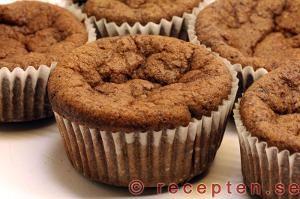 Recept på Chokladmuffins LCHF - mycket goda muffins utan vetemjöl eller strösocker!