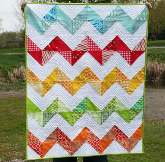 Must find a reason (and perfect fabric) to make this quilt- I love pulling my hair out over straight line quilting!