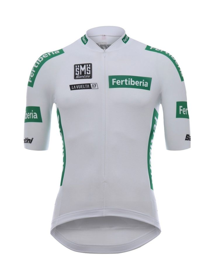 2017 La Vuelta White Leaders Cycling Jersey: Made in Italy by Santini