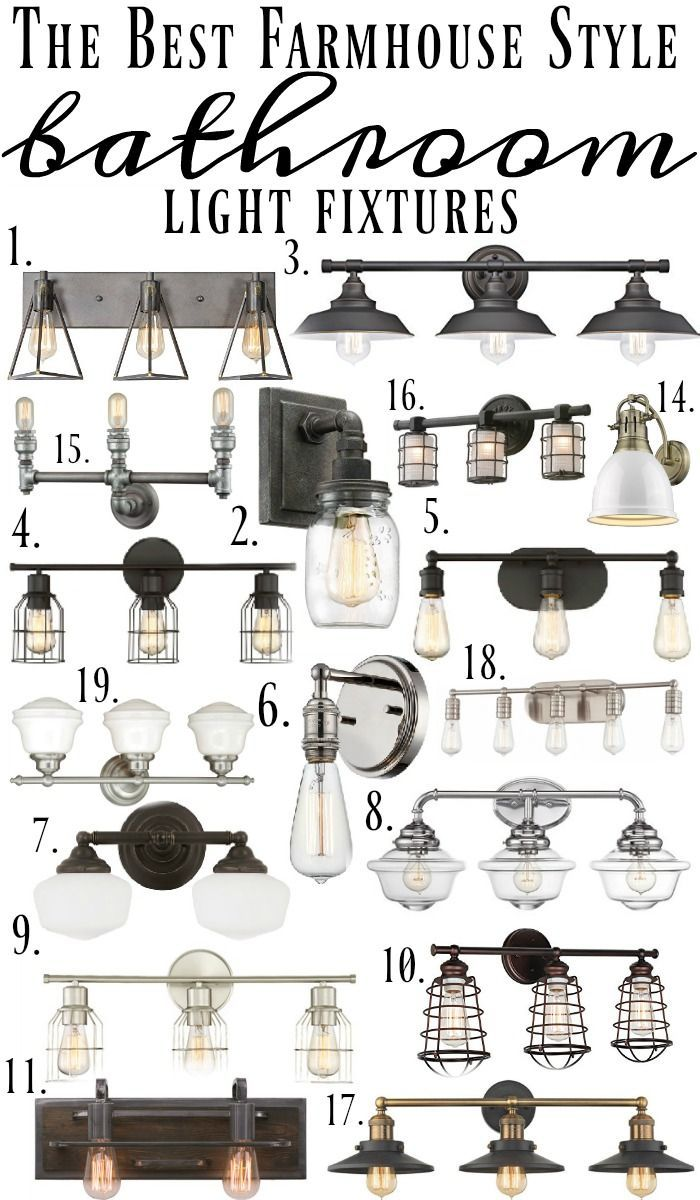 Farmhouse Style Bathroom Light Fixtures | Featuring our Iron Hill 3-light wall fixture
