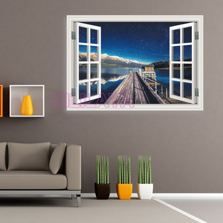 Aliexpress.com : Buy 3D Stereoscopic Seaside Landscape Vinyl Walls Sticker  Home Decor Window Scenery