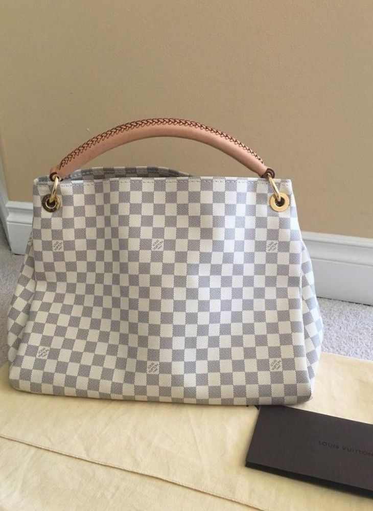 df986a007054 fashion 100% Authentic Louis Vuitton Artsy MM Damier Azur Handbag ...
