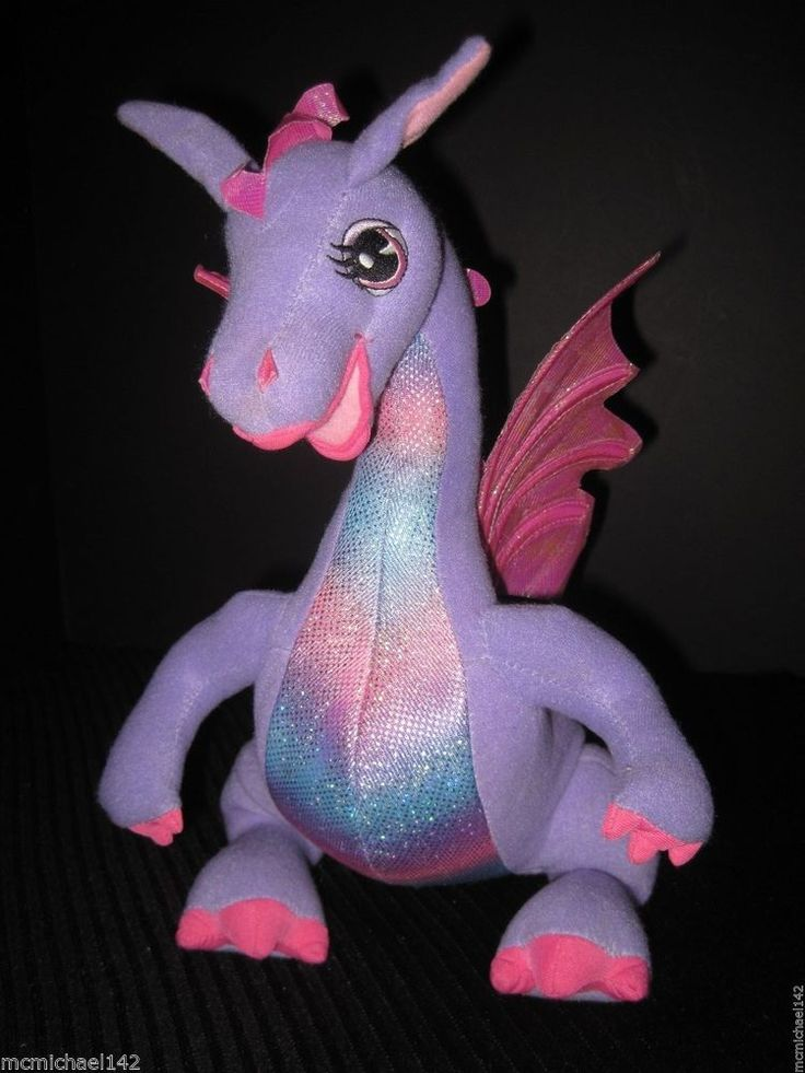 Rapunzel Barbie 12 Quot Penelope Dragon Talking Plush Stuffed