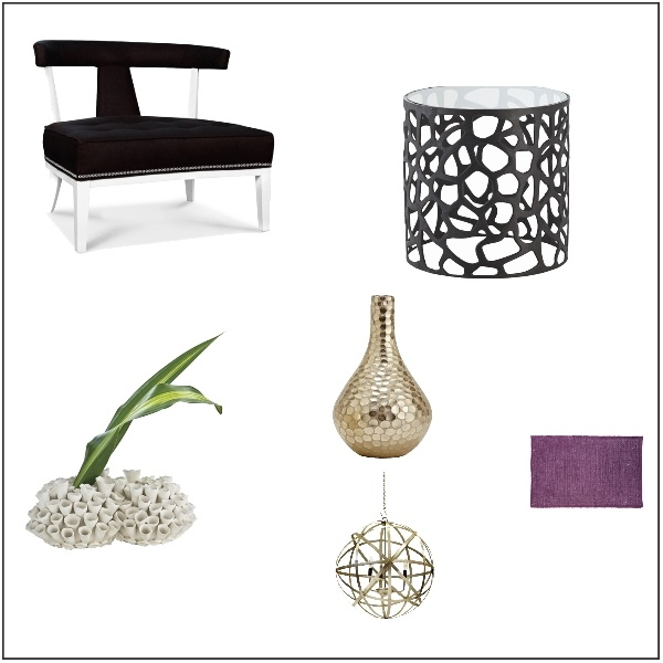 Modern Transitional With A Pop Of Purple By Using A Rug. E Design Mood  Board Interiors