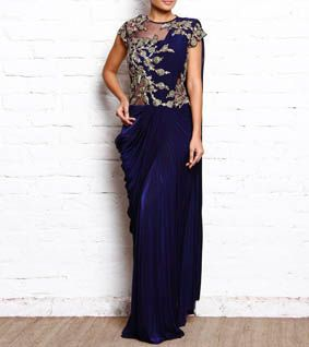 The label Reeti Arneja is all about the magnificent emulsification of Indo-western silhouettes & classic traditional embroideries.