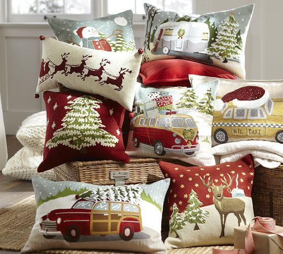 Beautiful Christmas Pillow Decor from Pottery Barn & 268 best ~Christmas Pillows and Blankets~ images on Pinterest ... pillowsntoast.com