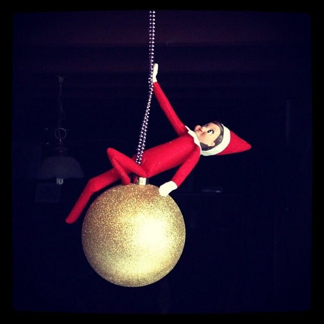 Ally does a Miley #elfonashelf Funny elf on a shelf Ideas