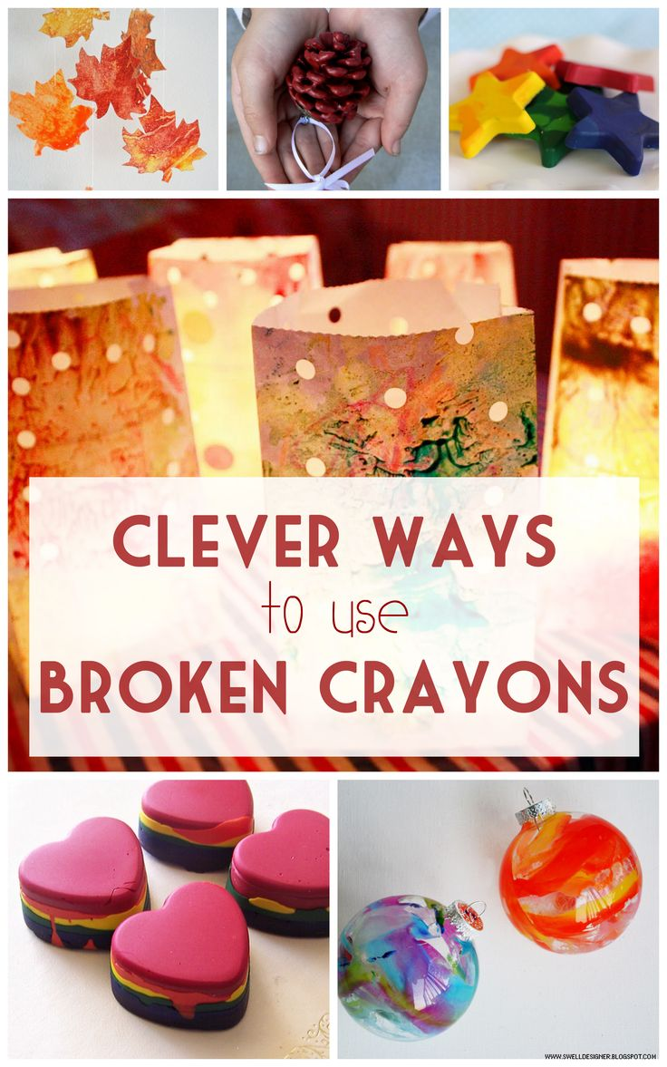 Super great ways to use up those bits of broken crayons