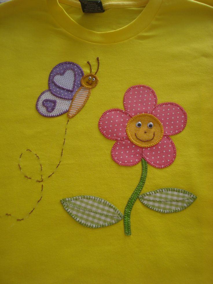 Camiseta infantil com patchcolagem