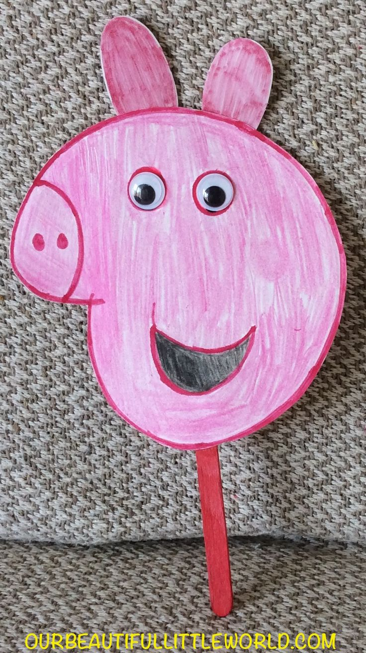 A Quick and Easy Peppa Pig Craft for Kids. http://ourbeautifullittleworld.com/?p=210