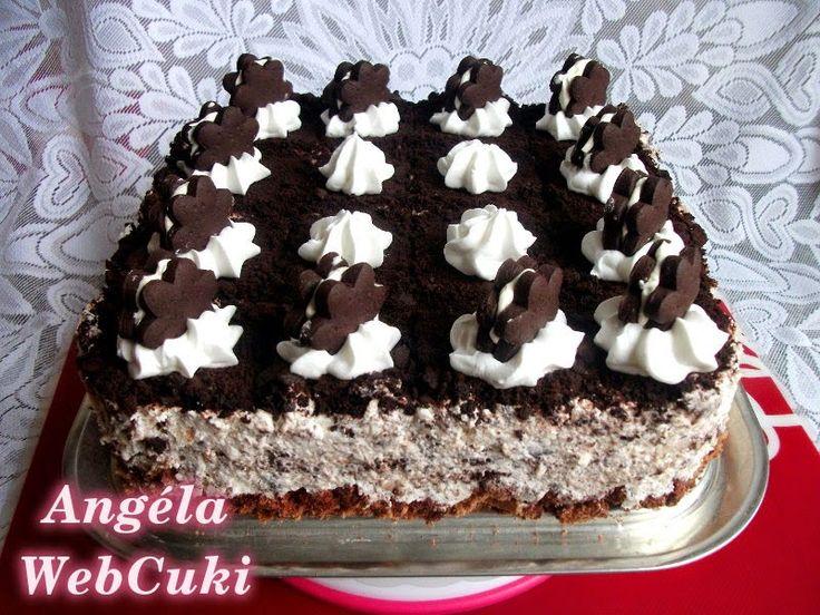 Házi oreo kekszes torta http://angelawebcuki.blogspot.hu/2014/10/hazi-oreo-kekszes-torta.html
