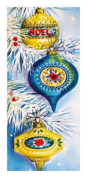 midcentury Christmas ornaments