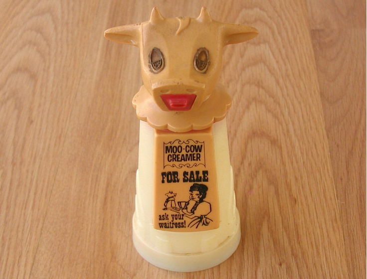 And the original Moo Cow Creamer photograph by: Papergreat: Obscure nostalgia: 1970s plastic mugs from Whirley Industries