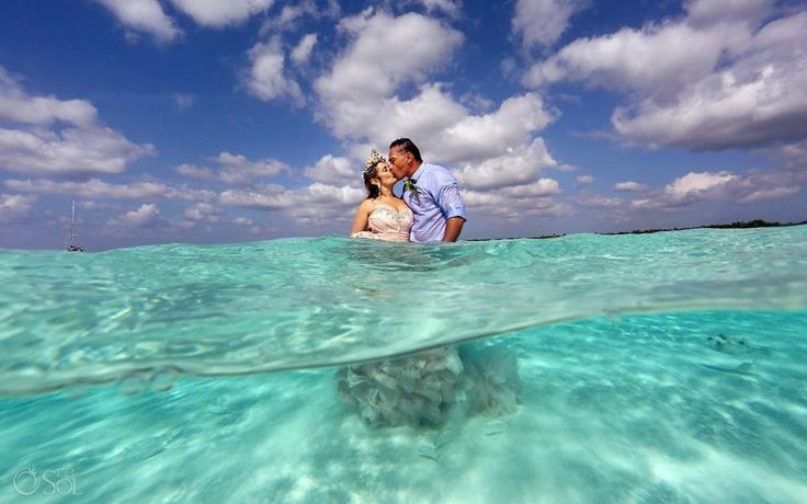 What's better than getting married on the beach? Getting married in the ocean! #RomanceLeaders #Sandbar #GoBig #Love