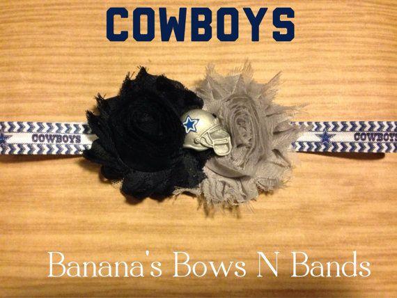 Football- Dallas Cowboys - NFL - Newborn /Infant / Child Stretch Shabby FOE Headband on Etsy, $6.00