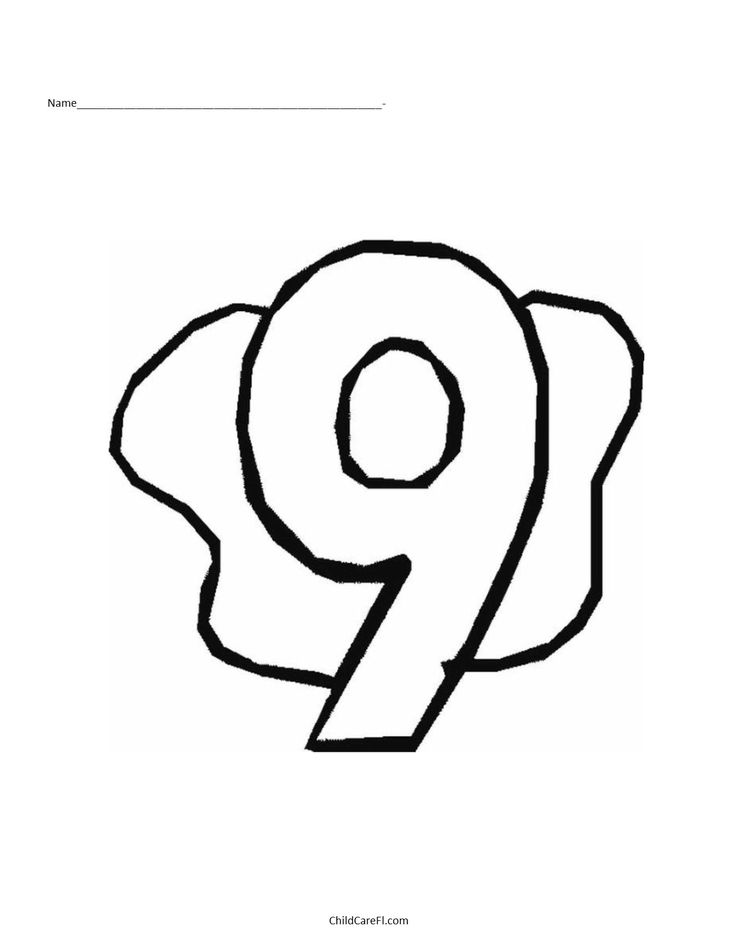 number 9 coloring pages. Number 9 10 best Coloring Pages images on Pinterest  books