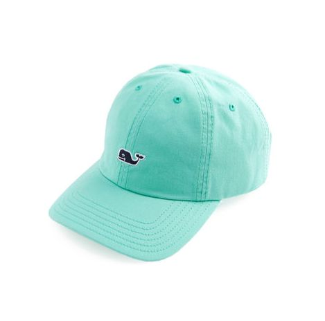 One of their best-loved products, this Vineyard Vines Whale Logo Baseball Hat in Sea Mist is always ready to grab and go. - 100% cotton-twill - Embroidered whale logo on front - Signature text on back
