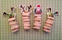 Kerst prikkers Elf en rendier www.deleukstelunch.nl #funbites #reindeer #santa lunch #elf lunchbox