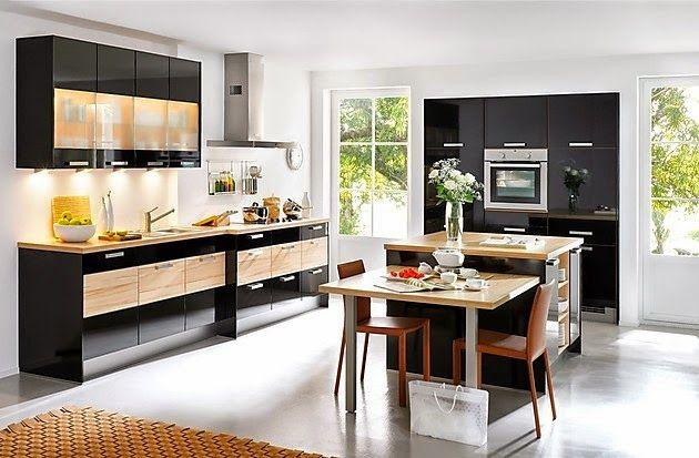 Nobilia Prima kitchen ivory high gloss american walnut 702 - nobilia küchen preisliste