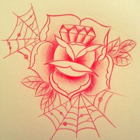 Diamond and rose ♡